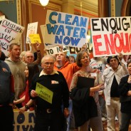 500 protest Branstad's corporate agenda