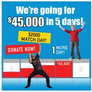 Our goal: $45K in 5 days!